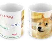 Doge / Shibe Mug - Gift idea meme dog lover animal reddit 9gag 4chan christmas birthday present much wow cup coffee tea funny unique