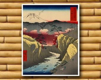 Retro Art Japanese Decor Vintage Print Asian Poster (J57)
