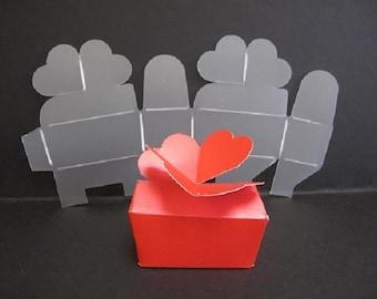 Plastic Interlocking Heart Gift Box Template