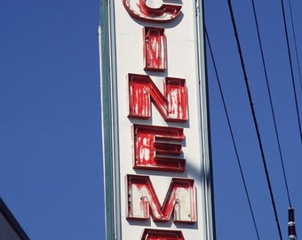 Cinema Theatre Neon Sign