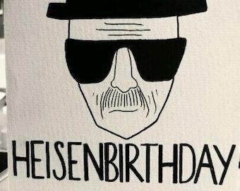 Breaking Bad Heisenberg birthday card