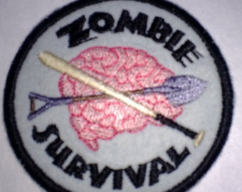 Zombie Survival, Undead, Zombie Apocalypse, SEW ON PATCH