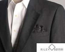 Black Rose on Black Pocket Square/Handkerchief/Fashion