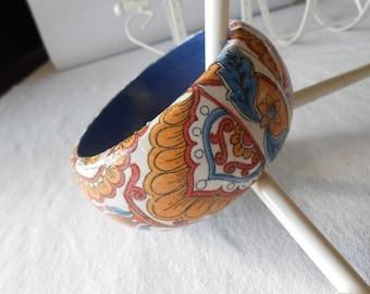 Arabesc Decoupage Wood Bracelet