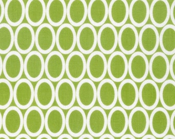 Robert Kaufman Remix Ovals in Lime 100% Cotton by Ann Kelle