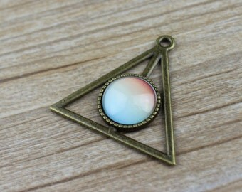 10 pcs Antique Bronze French Earwires Triangle DiY Earwires  Triangle  Base - 16mm Setting Blanks