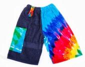 Towel Board Shorts - Size M/L Junior - Tie Dye Navy