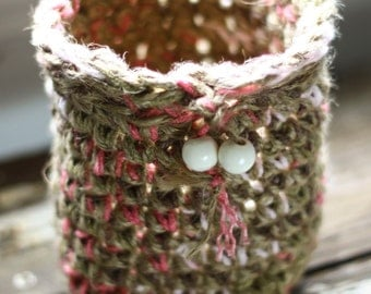 Crochet Jute & Yarn Basket