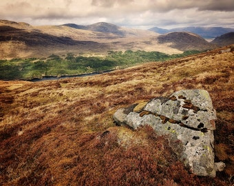 Beinn Na Lap As Seen From Carn Dearg, original fine art photography, print, landscape, highland, nature, 8x12,  mountain, scotland, rock