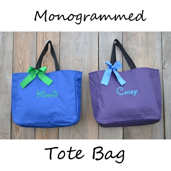 Personalized Cheer Dance Beach Bridesmaid Gift Tote Bag Monogrammed Tote, Bridesmaid Tote, Personalized Tote
