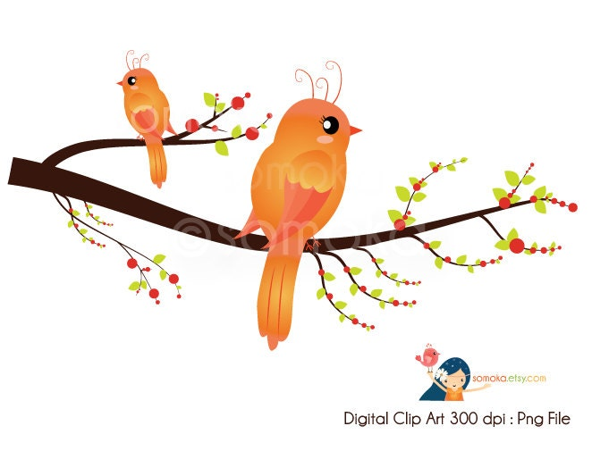 tree with birds clipart - photo #8