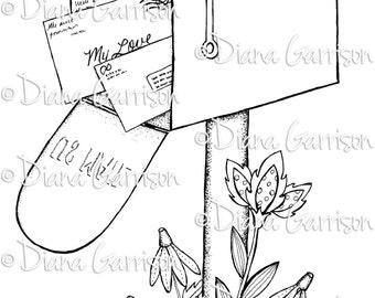 Mailbox Digi Digital Stamp