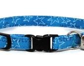 Cat Collar - Starry Blue - Breakaway Safety Cute Fancy Cat Kitten Collar