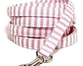 """XS Leash - Soft Candy Stripes - 3/8"""" wide - 4 or 6 Feet long for Cats and Small Dogs"""