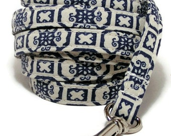 """Leash - Royal Victorian Blue - 3/8"""" or 3/4"""" wide - 4 or 6 Feet long for Cats and Dogs"""