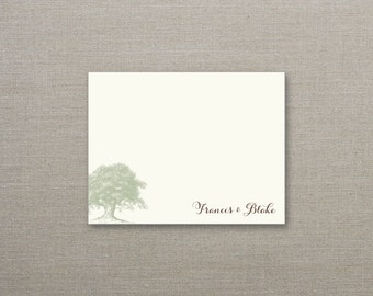 Under the Oak Personalized Note Cards - SET OF 25 Cards