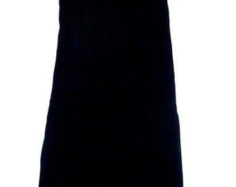 Oscar De La Renta Black Velvet Maxi Skirt