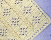 PDF Pattern Crocheted Car Seat Size Baby Afghan, EZ Braided Lace Baby Afghan Blanket Pattern