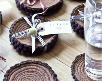 Coasters- Tree Stump- Set of Four