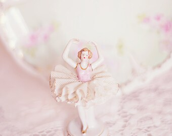 Tiny Dancer Ballerina photography vintage pastel dream girl home decor 8x8 wall art print room
