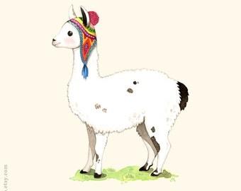 Popular items for llama illustration on Etsy