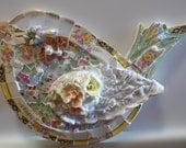 LoLLiPoP picassiette broken china stained glass chubby bird wall hanging shabby sweet chic cottage  wall art hanging