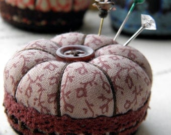 Miniature Pincushion, Autumn Leaves