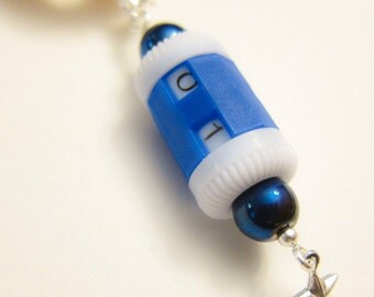 Blue Row Counter - Metallic  Blue Beads