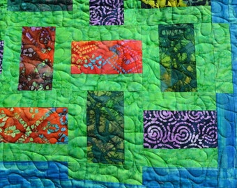 Bright Batik baby quilt