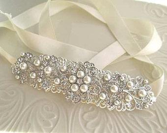 Bridal headband wedding hair Accessory bridal headpiece wedding headband rhinestone headband wedding head piece crystal  bridal hair piece