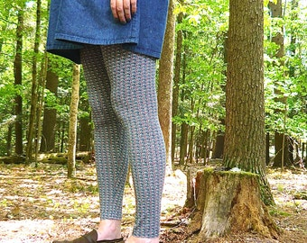 leggings in printed or striped stretch jersey -- made to order