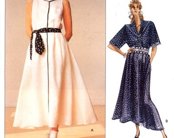 Ralph Lauren dress Nautical style ankle length designer dress sewing pattern Vogue 2317 Sz 10