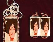 Judith Pendant & Earrings Set in Lavender, Gold or Silver