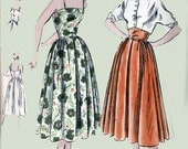 1940s Sundress with Short Fitted Bolero Vogue 3206 Womens Vintage 40s SWING ERA Sewing Pattern Size 13 UNCUT