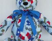 Texas Flag & Bluebonnets Teddy Bear