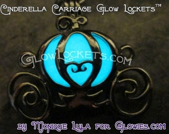 Fairytale Princess Cinderella Pumpkin Carriage Glow Locket