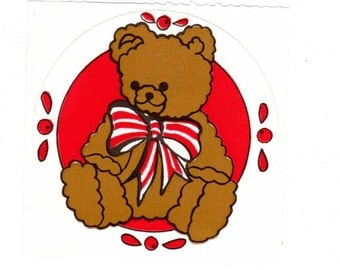 Teddy Bear Sticker mod by Collector's Gallery Red background version