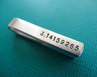 Pi Tie Bar - 3.14159265 - Geeky Tie Clip