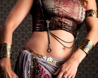 Breath-taking Steampunk Bellydance Coin Belt with Over 100 Authentic Vintage Watches by Velvet Mechanism