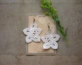 ivory lace earrings / CLEMENCE / floral earrings / bridal earrings / lace jewelry / bridesmaid earrings / bridal earrings, victorian, boho