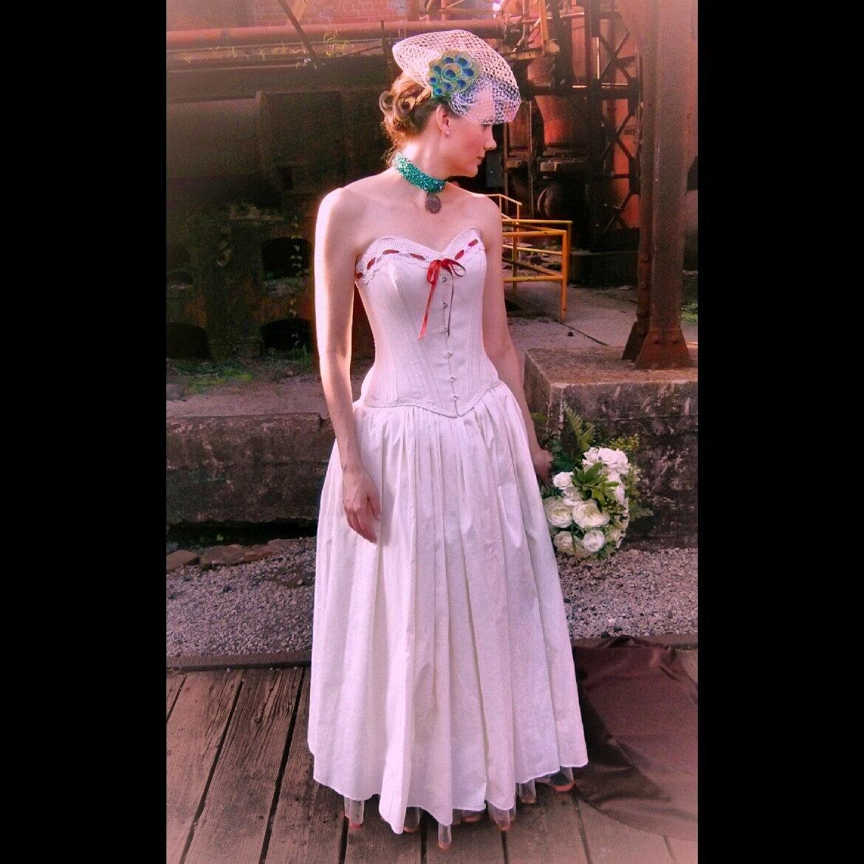 Steampunk Wedding Gowns: Steampunk Wedding Dress Natural Cotton