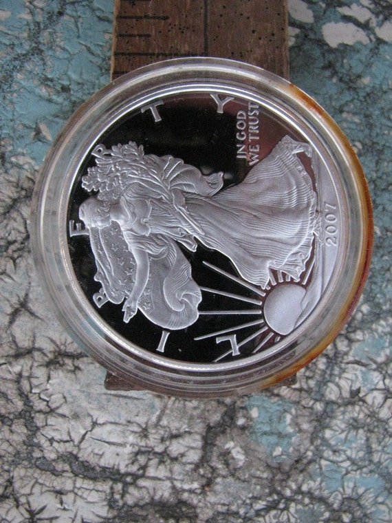 Silver Eagle Dollar 2007 Coin Walking Liberty 1 Troy