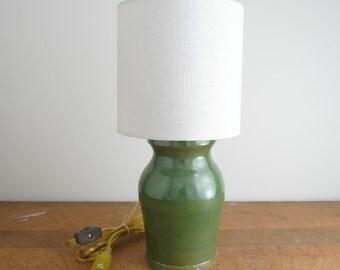 Hand Thrown Ceramic Jar, Mini Table Lamp