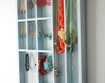 Light Aqua Jewelry Organizer