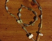 Spiral shell necklace and bracelet - Cream colored