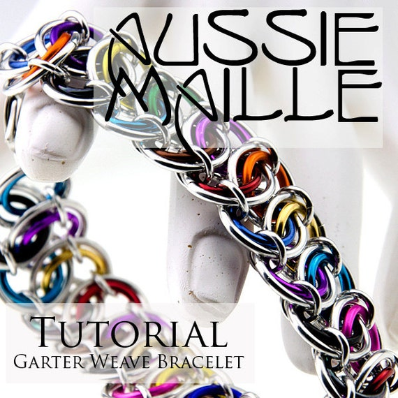 Basket Weave Chainmaille Tutorial : Chainmaille tutorial garter weave bracelet from