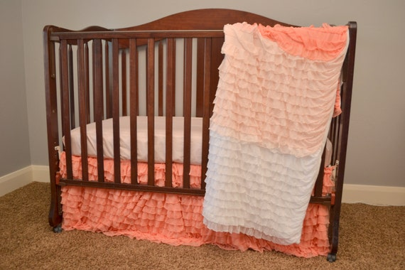 How to Sew a Ruffle Crib Skirt Using Ruffle Fabric (Includes Bed Sizes too-Twin, Queen, King)