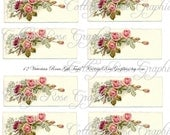 Large digital download collage Vintage Pink Victorian Roses ATC ACEO gift tags ECS buy 3 get one free