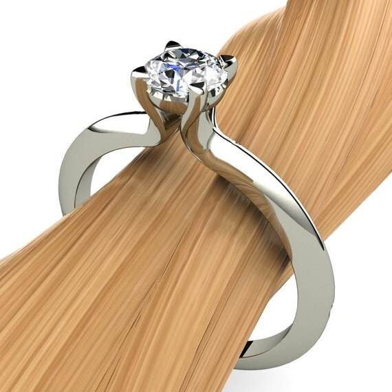 Half Carat Diamond Engagement Ring Diamond Engagement Ring in 14k