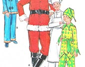 Butterick 6399 Santa Costume Chef Costume Jester Costume Asian Costume 1960s Mens Vintage Sewing Pattern Uncut